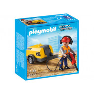 Playmobil - Construction Worker with Jack Hammer