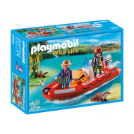Playmobil - Inflatable Boat with Explorers