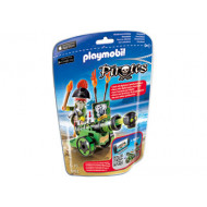 Playmobil - Green Interactive Cannon with Pirate Captain
