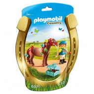Playmobil - Groomer with Butterfly Pony