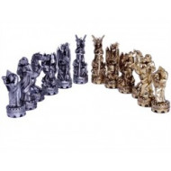 Dal Rossi Italy Mystical Dragons 80mm Pewter Chess Pieces (Pieces Only)