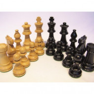 Dal Rossi Italy Staunton Boxwood/Sheesham Wood 85mm Weighted Chess Pieces (Pieces Only)