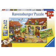 Ravensburger - Working on the Farm Puzzle 2x12pc