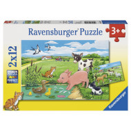 Ravensburger - Baby Farm Animals Puzzle 2x12pc