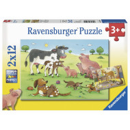 Ravensburger - Animals Children Puzzle 2x12pc