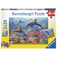Ravensburger - Underwater World Puzzle 2x24pc