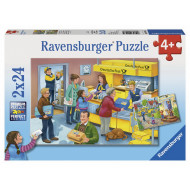 Ravensburger - The Busy Post Office Puzzle 2x24pc