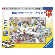 Ravensburger - Around The Airplane Puzzle 2x24pc