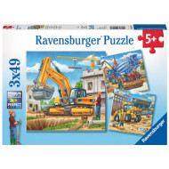 Ravensburger - Construction Vehicle Puzzle 3x49pc