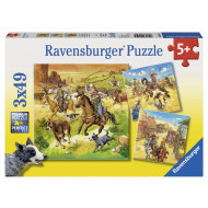 Ravensburger - In the Wild West Puzzle 3x49pc