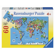 Ravensburger - World Map Puzzle 60pc