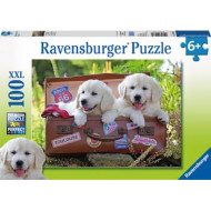 Ravensburger - Taking a Breather Traveling Pups Puzzle 100pc