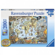 Ravensburger Pirates Secret Map Puzzle 200pc