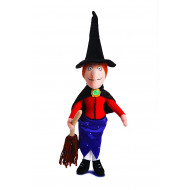 ROTB Witch with Broom 40cm - Room On The Broom