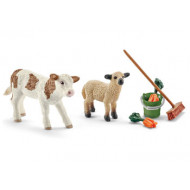 Schleich - Stable Cleaning Kit with Calf