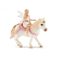 Schleich - Delicate Lily Elf Riding a Pony