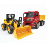 Bruder 1:16 MAN TGA Construction Truck with Articulated Road Loader