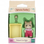Sylvanian Families Striped Cat Baby