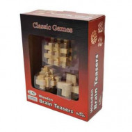 Shuffle Classic 3pce Wooden Brain Teaser Puzzles