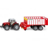 Siku - Massey-Ferguson with Jumbo Pottinger 1:50 Scale