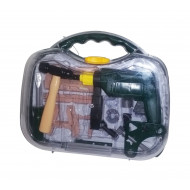 Tool Set With Hammer And Drill In Case