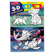 M&D - Easy-to-See 3D Colouring Puzzle - Ocean