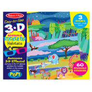 M&D - Easy-to-See 3D - Reusable Sticker - Habitats