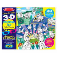 M&D - Easy-to-See 3D - Colouring Pad - Pink