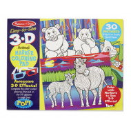 M&D - Easy-to-See 3D - Colouring Pad - Animals